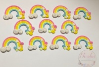 Pastel rainbow swirls clays