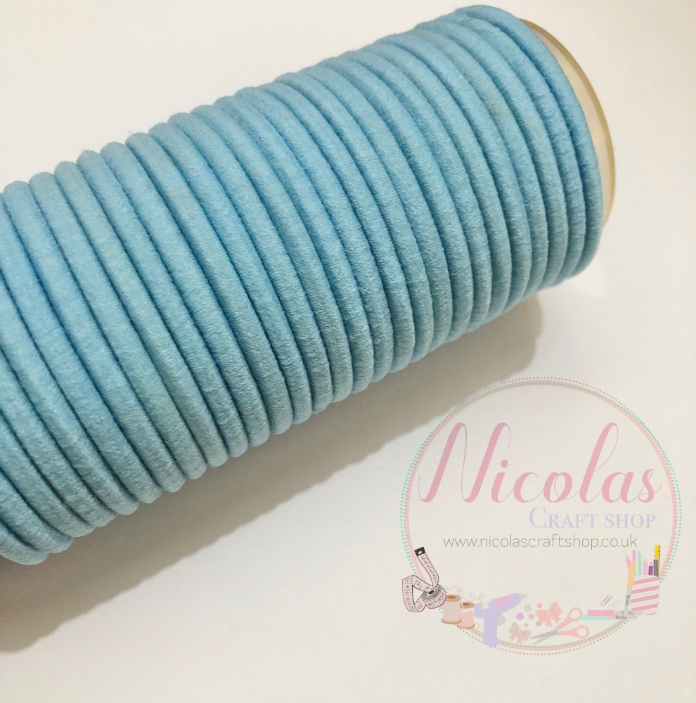 THICK baby blue snag free bobbles pack of 5
