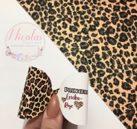Leopard print personalised bow loop pre cut