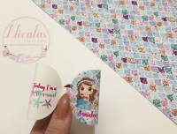 Personalised today i am a mermaid pre cut bow loop