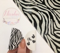 Zebra print personalised bow loop pre cut