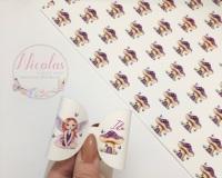 Fairy Mushroom House personalised printed bow loop pre cut