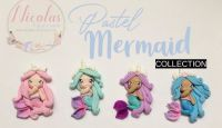 Pastel Princess mermaid polymer clay dolls