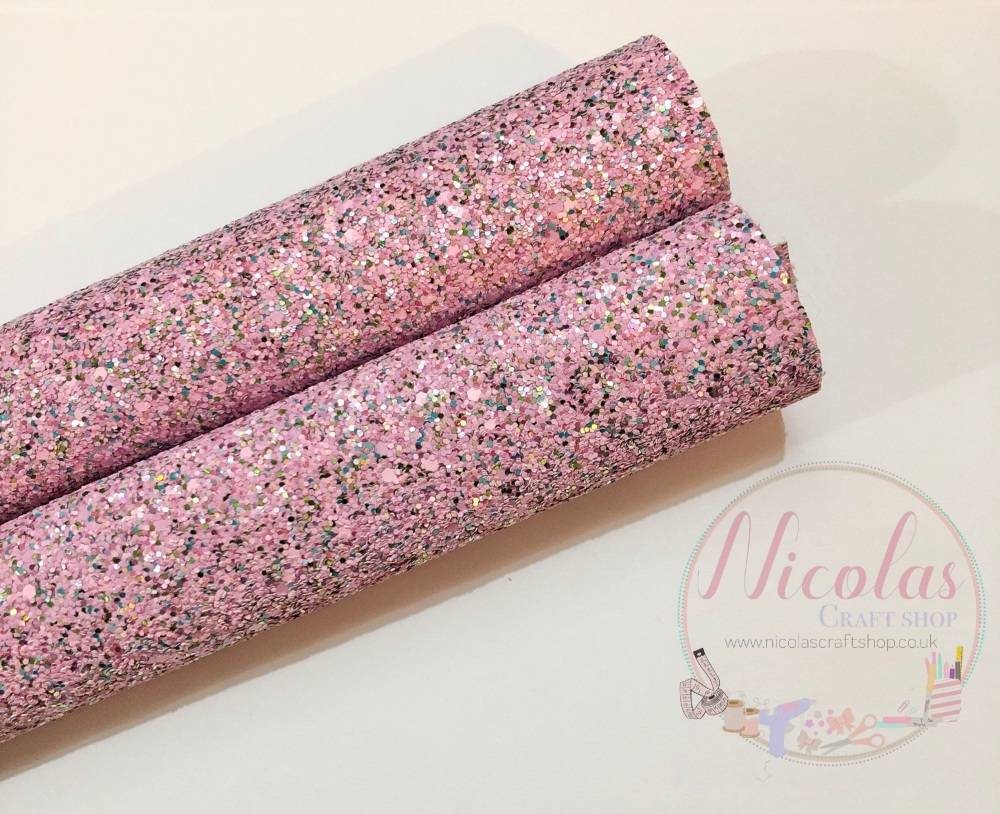 Pink Fairy chunky glitter sheet a4