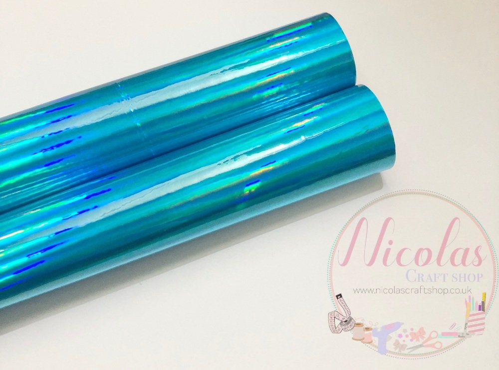 Light Blue mirrored fabric a4