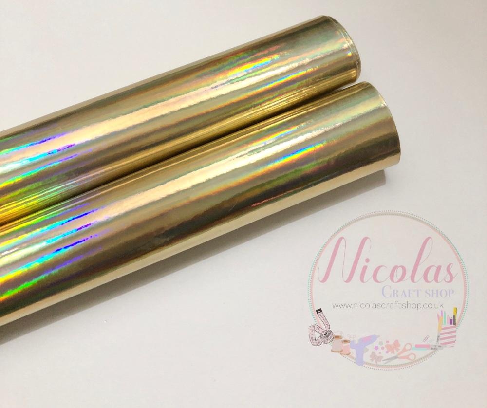 Light Gold mirrored fabric a4