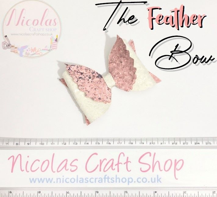 """The Feather Bow - 3.5"""" Cutting Die"""