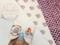 Mermaid Dreams Girl personalised pre cut bow loop