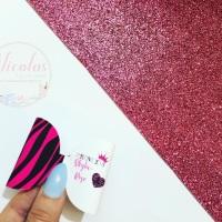 PINK - Zebra print personalised bow loop pre cut