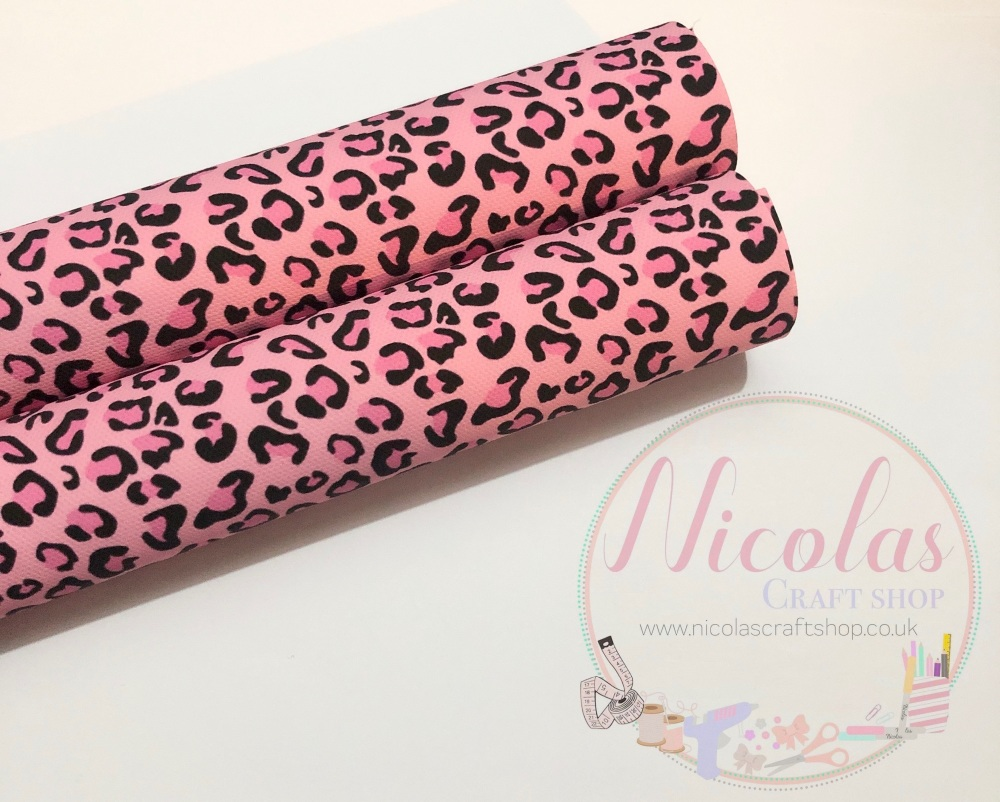 Pink leopard print printed canvas sheet