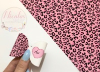 The Pink leopard personalised pre cut bow loop