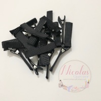 Black Pre lined 45mm alligator clips (pack of 10)