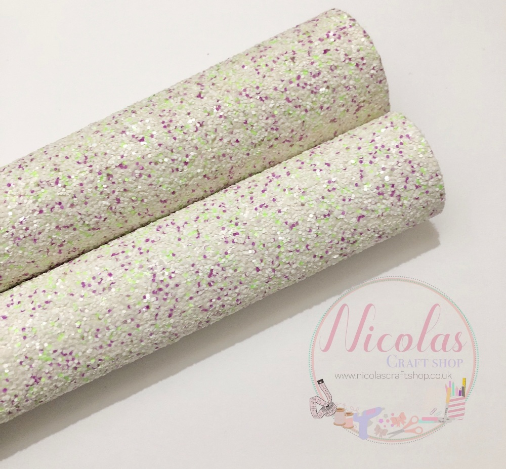 Spring Bloom chunky glitter fabric