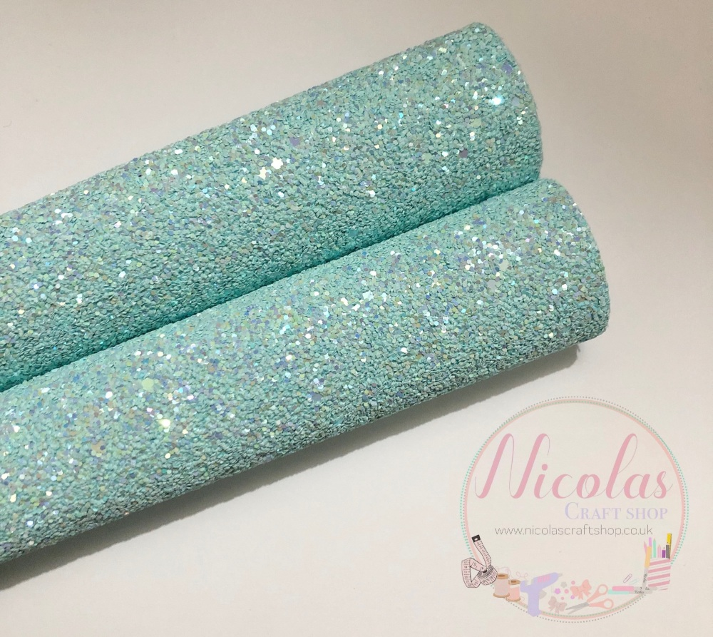 Baby Blue High quality Matte Chunky Glitter