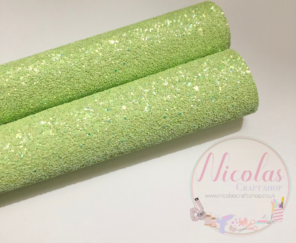 Lime Green High quality Matte Chunky Glitter