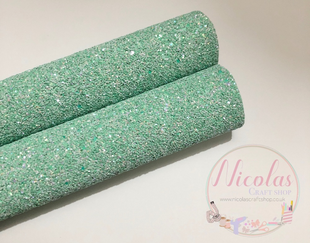 Pastel Green High quality Matte Chunky Glitter