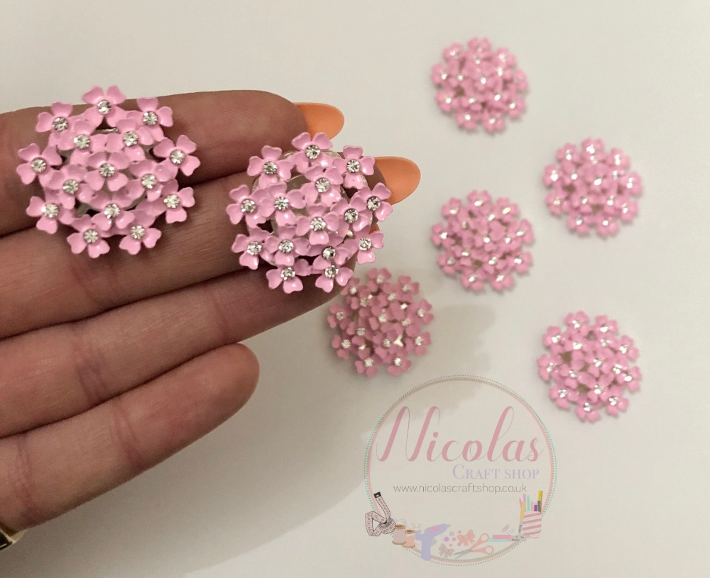 Light Pink floral bling embellishment