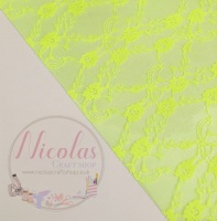Yellow lace jelly fabric