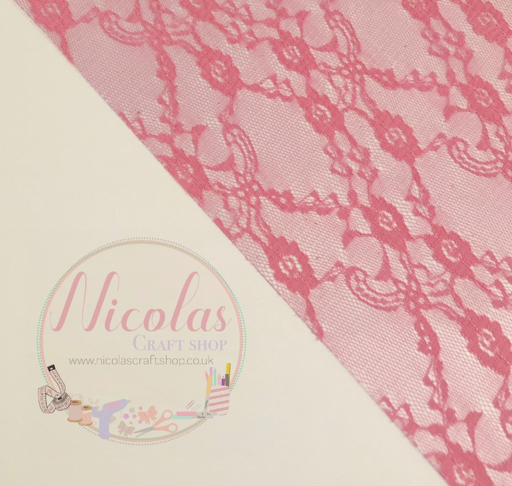 Pink lace jelly fabric