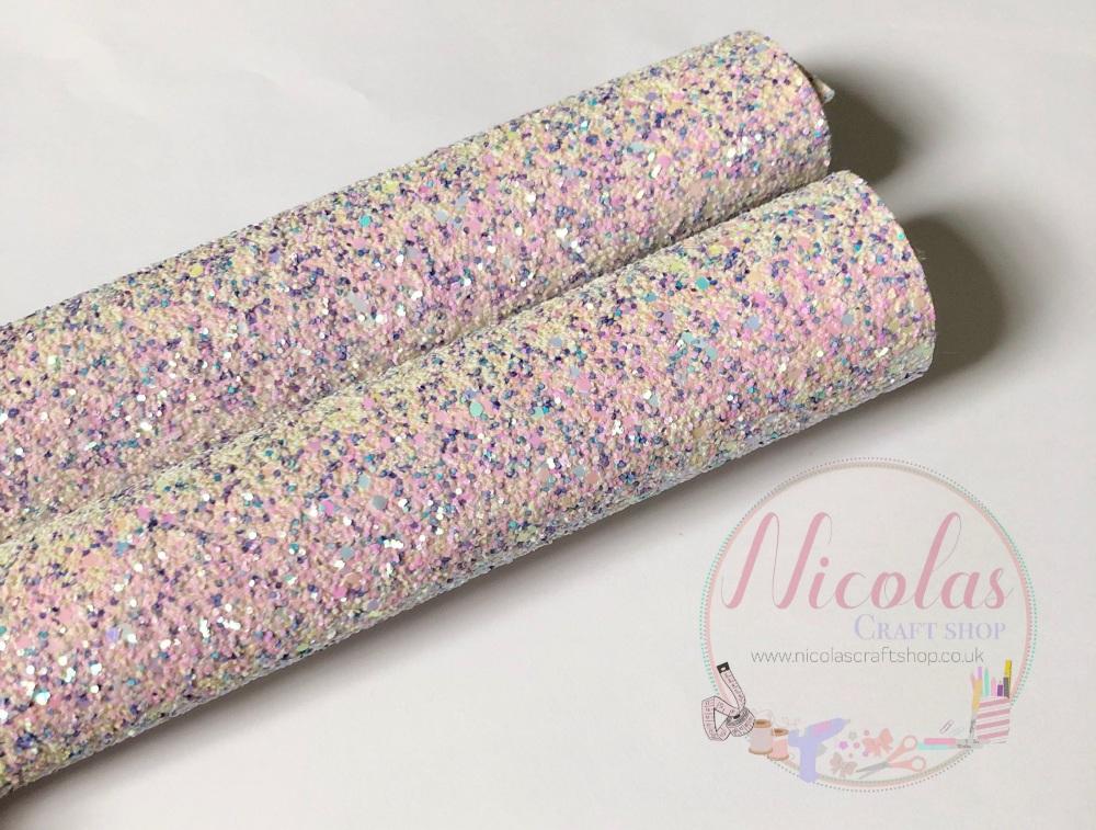 Unicorn Confetti Pop chunky glitter sheet a4