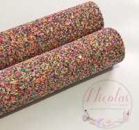 Sprinkles a grade thick chunky glitter fabric