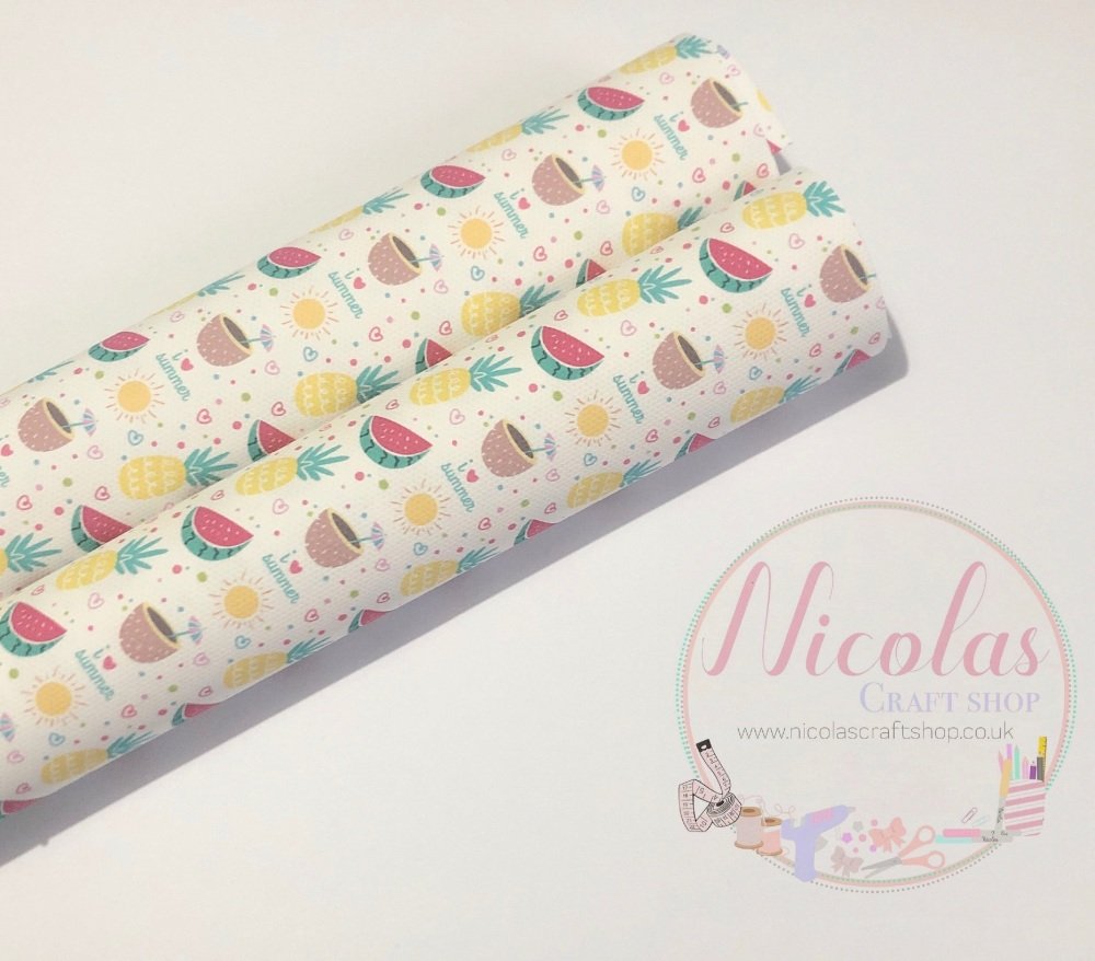 I love summer fruity printed canvas sheet