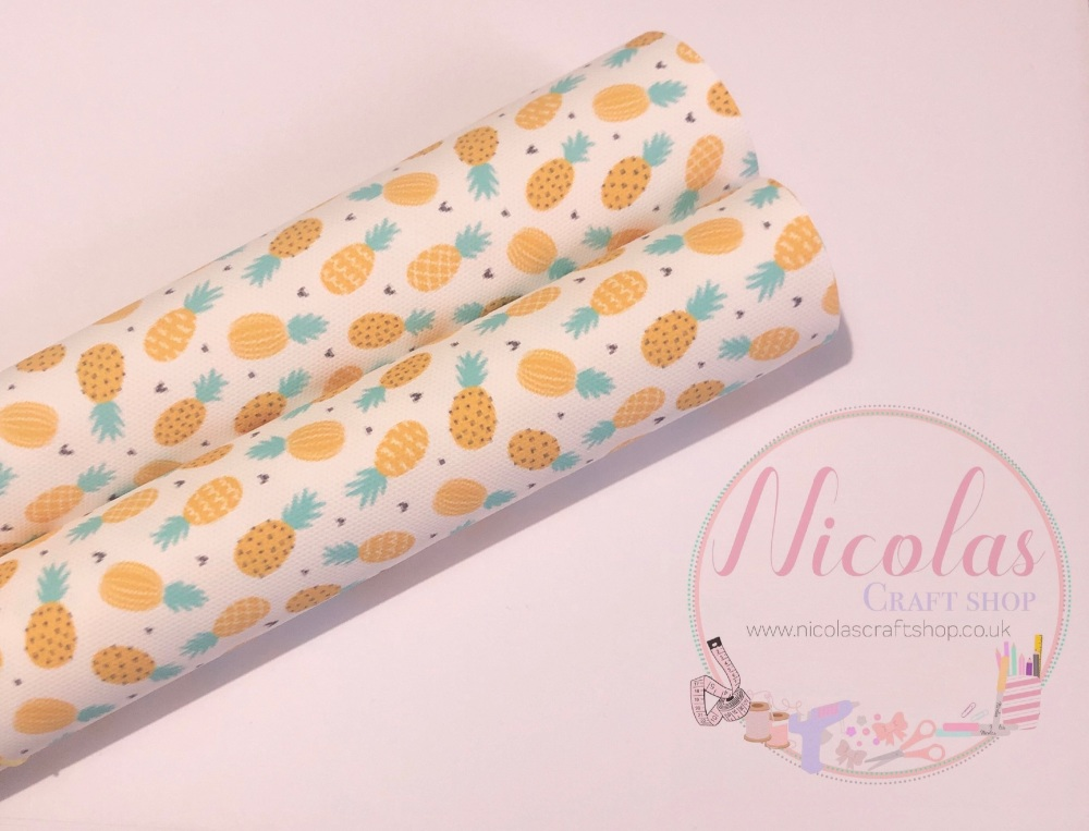 Gone Pineapple Crazy printed canvas sheet fabric