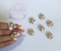 White - The Floral Bug bling golden embelishment