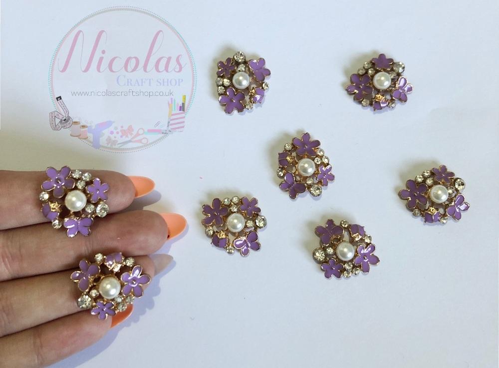 Lilac - The Floral Bug bling golden embelishment