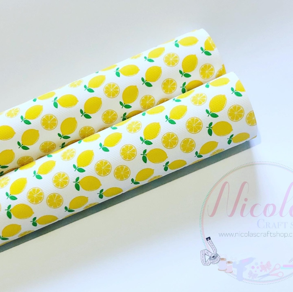 Lemon Print Printed canvas sheet