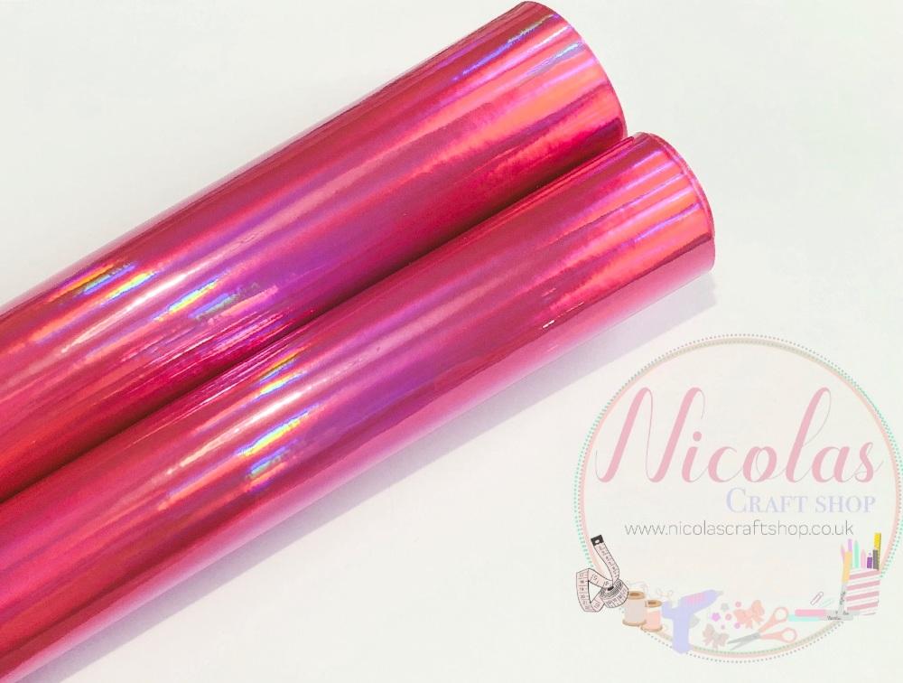 Pink Mirrored Iridescent fabric
