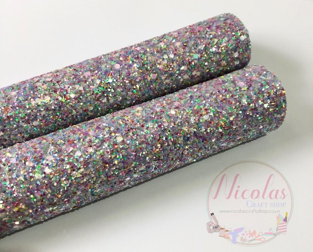 Lucky Charm Lilac Chunky Glitter Fabric