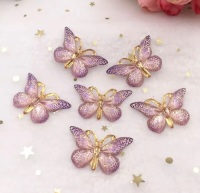 Purple Butterfly Bling 3d flatback embellishment