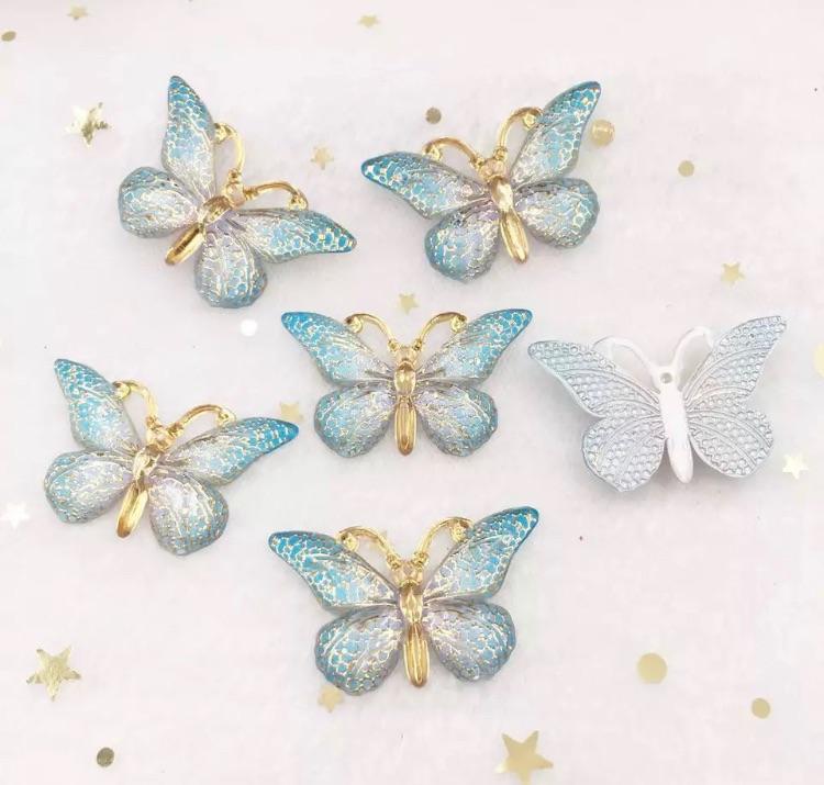Blue Butterfly Bling 3d flatback embellishment