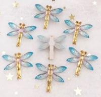 Blue Dragonfly Bling 3d flatback embellishment
