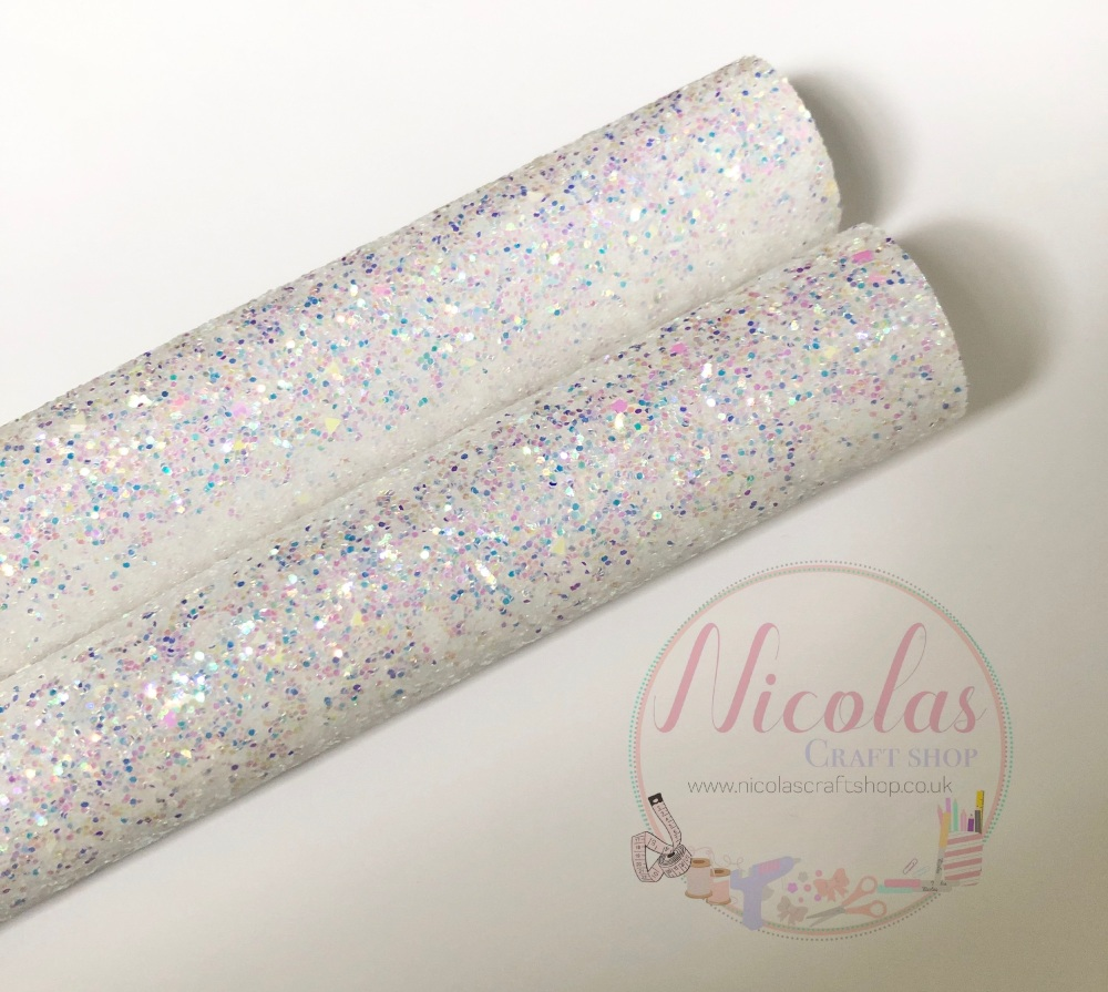 Ice queen chunky glitter fabric