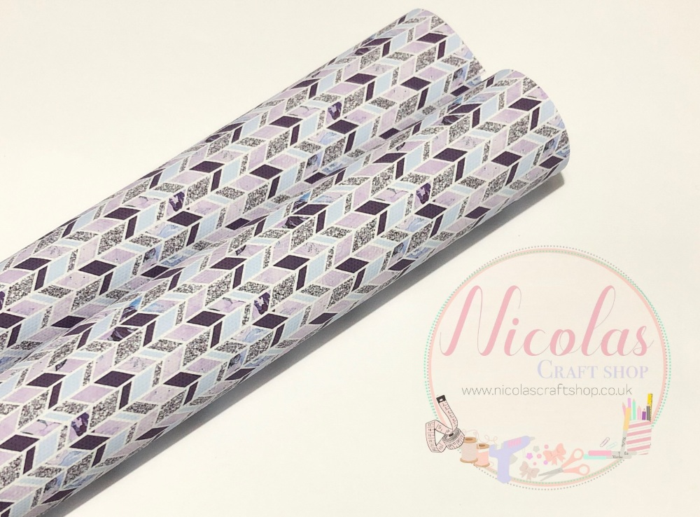 Pure purple shape pattern printed canvas sheet