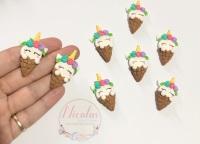 Unicorn ice cream cone polymer clay