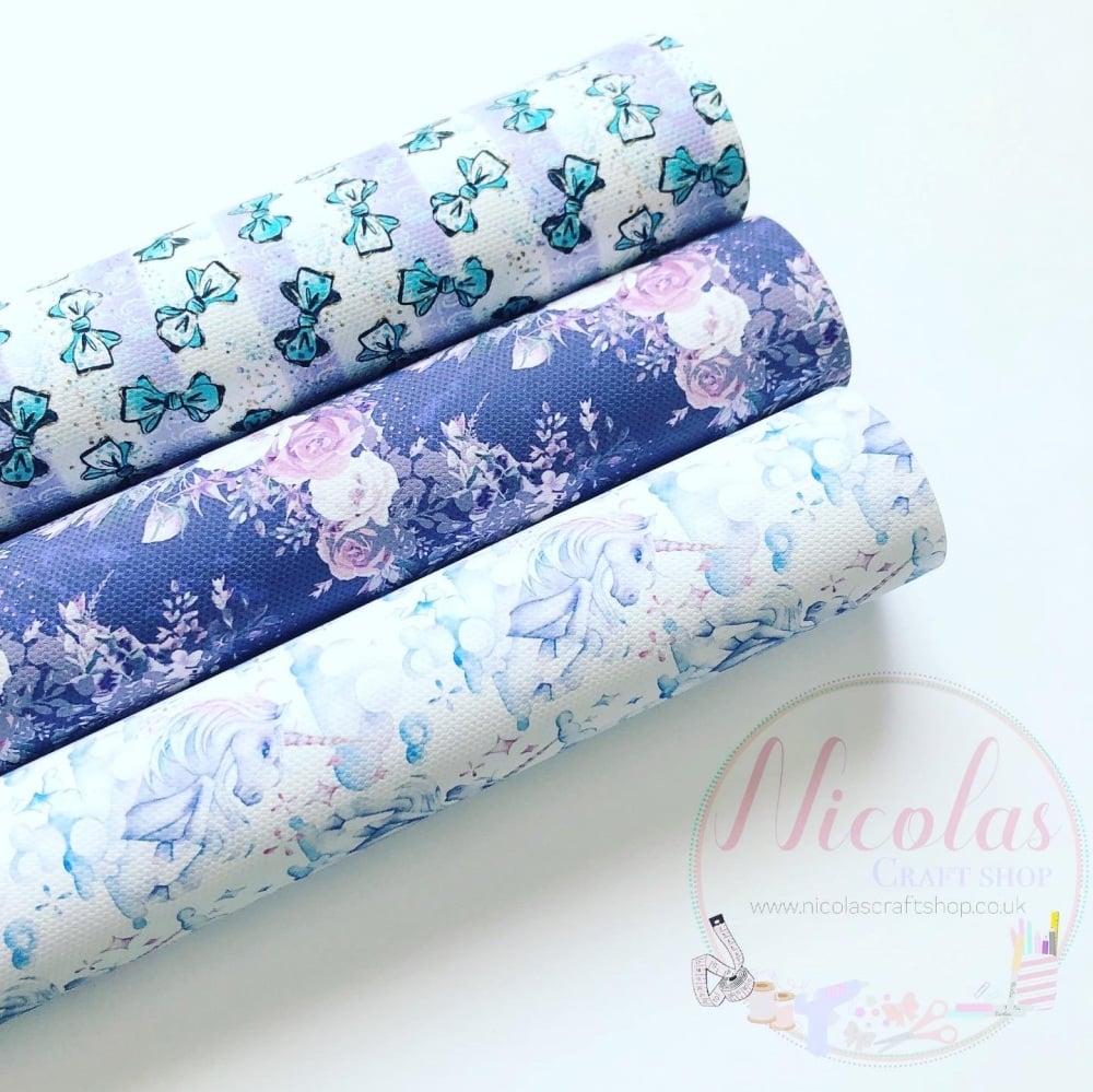 Bow Bows Everywhere printed canvas sheet bundle