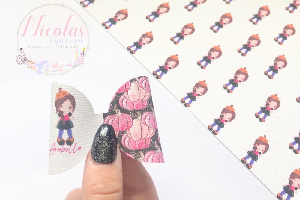 Pink Pumpkin Patch Girl Pre cut bow loop