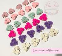 Triple Flower Bling Flowers various colours