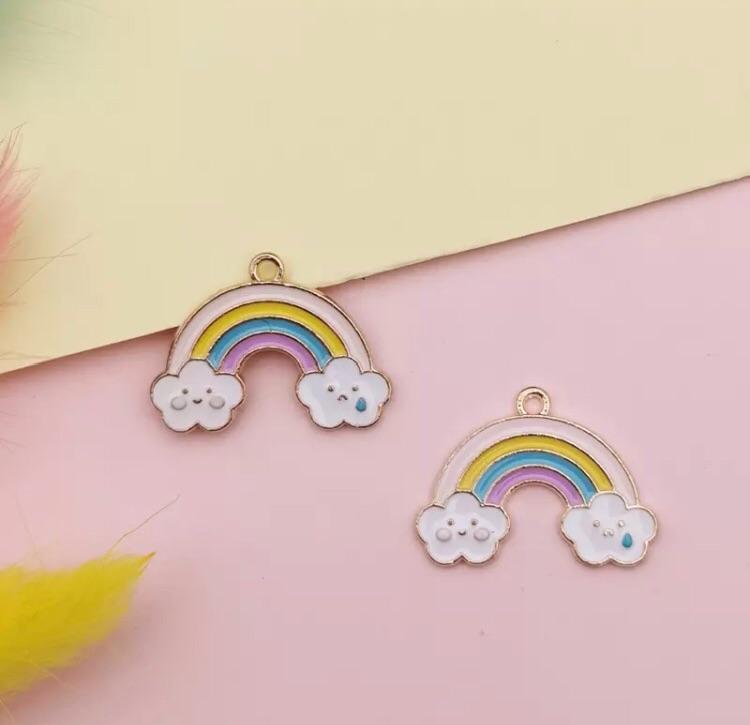 Golden Rainbow charm embellishment