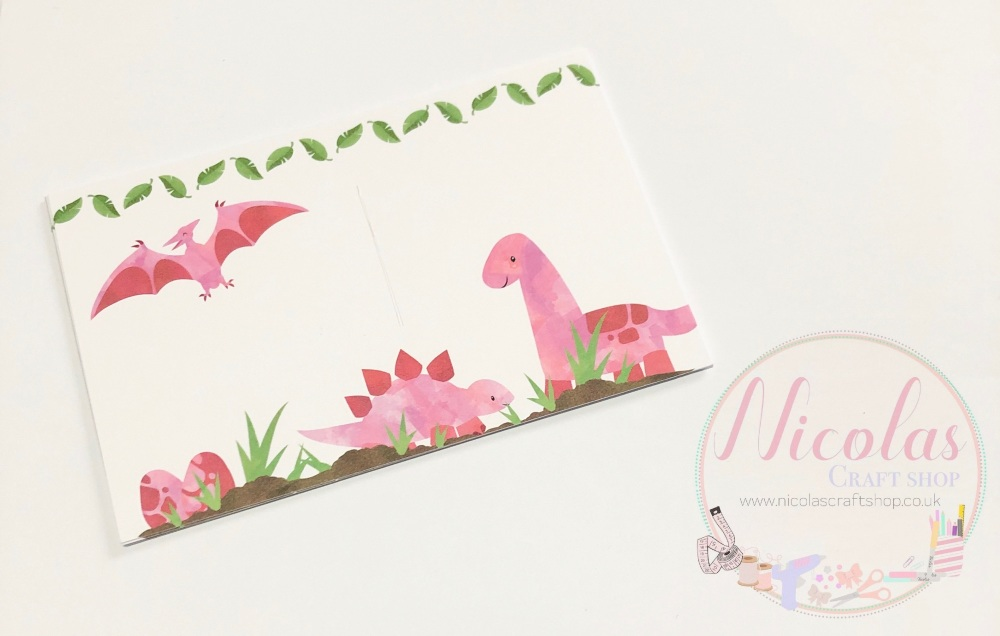 Dinosaur world printed bow cards (pack of 10)