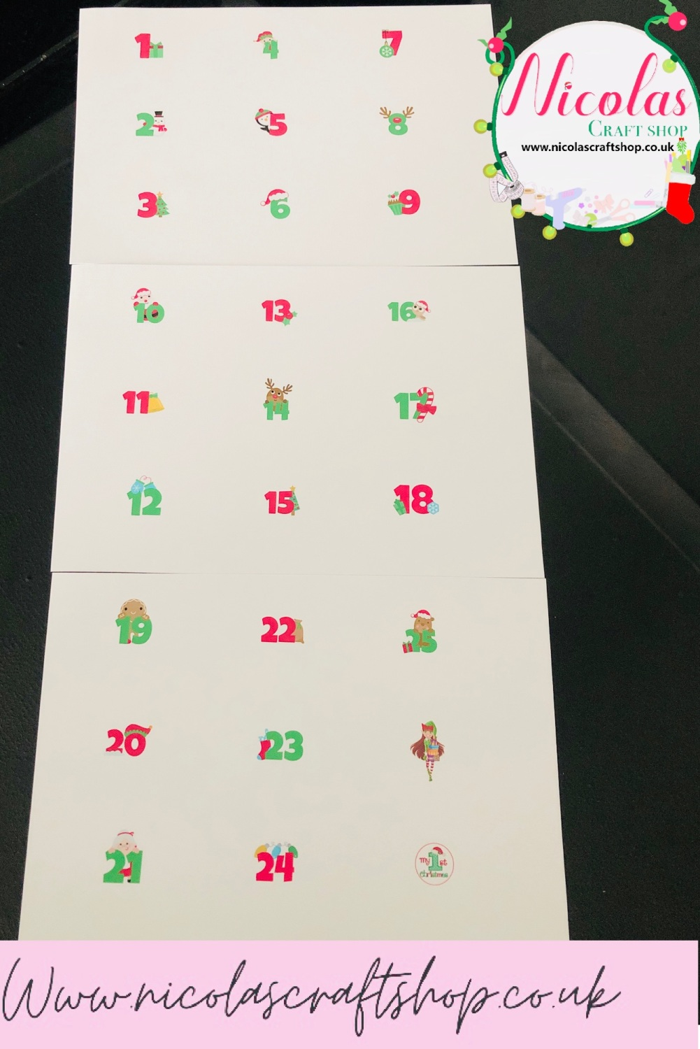 The Christmas countdown canvas sheet bundle
