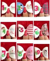 The Christmas Countdown advent pre cut bow loop bundle (x12)