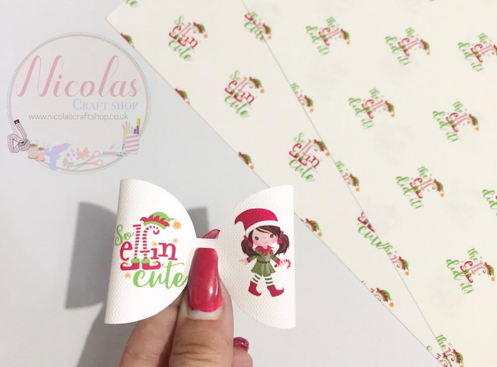 So elfin cute pre cut bow loop