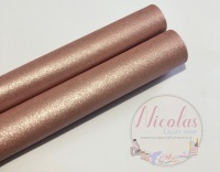 Pearlescent dusky pink fabric sheet