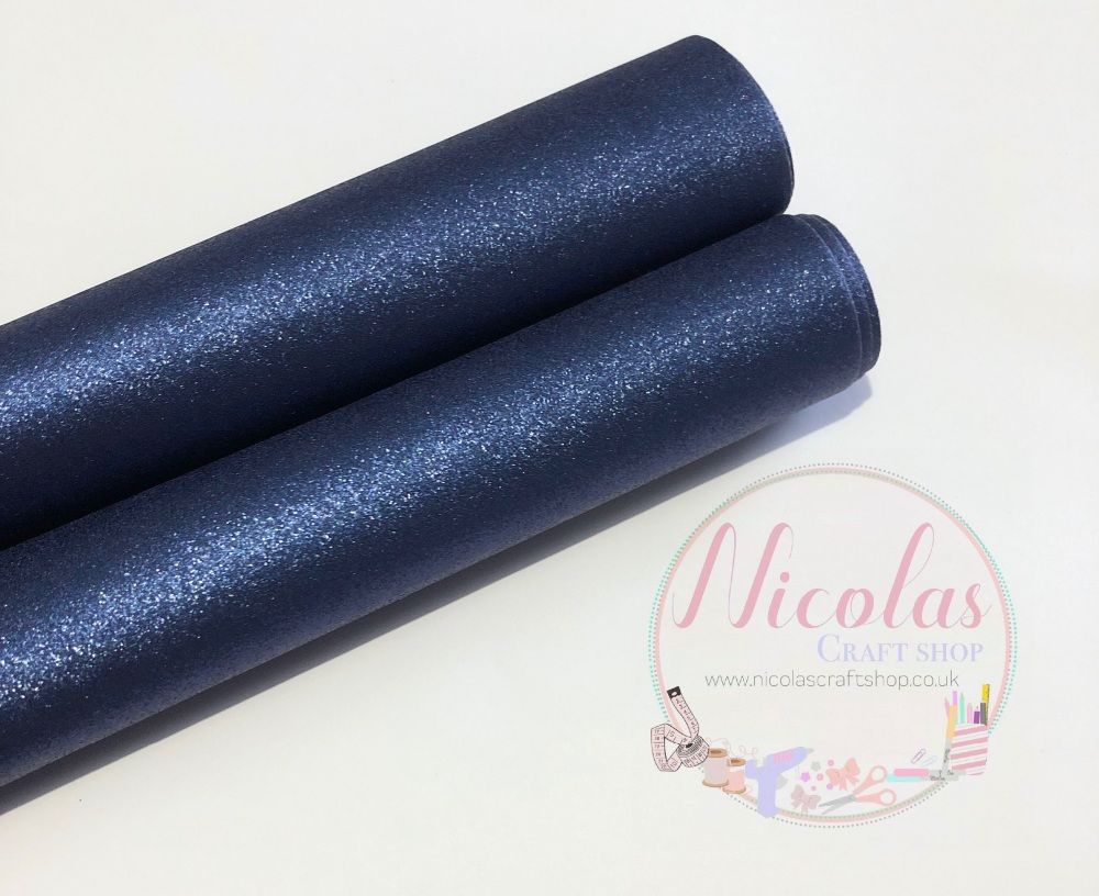 Navy blue pearlescent fabric sheet