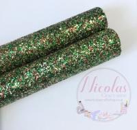 Christmas chunky glitter fabric