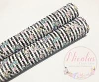 1245 - Cute Dragon Stripe printed canvas sheet